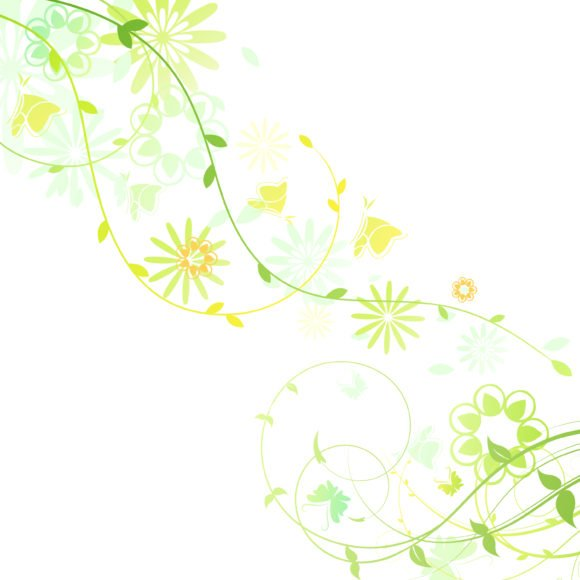 Awesome Spring Vector Artwork: Vector Artwork Spring Floral Background 1