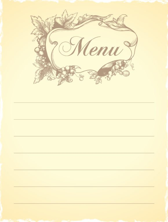 Restaurant Vector Illustration: Vector Illustration Vintage Restaurant Menu 1