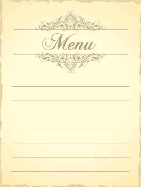 Best Illustration Vector Artwork: Vintage Menu Vector Artwork Illustration 1