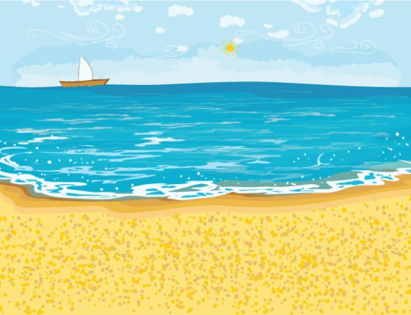 Summer Vector Summer Background Vector Illustration 1