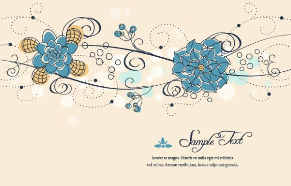 Smashing Colorful Vector: Colorful Floral Vector Background 1