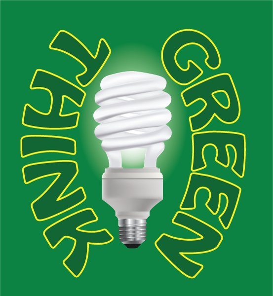 Awesome Science Vector Art: Vector Art Environmental Light Bulb 1