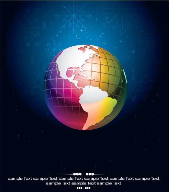 Vector, With, Clean Eps Vector Vector Abstract Background With Globe 1