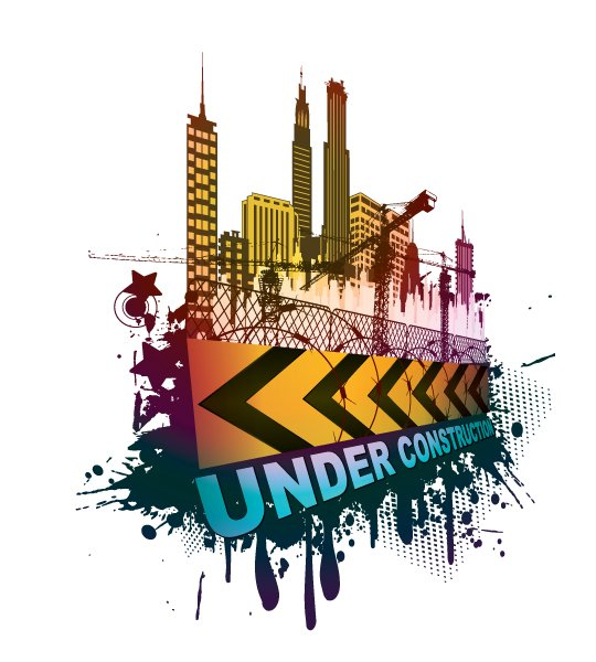 With, Under Vector Illustration Vector Under Construction Sign With Grunge 1