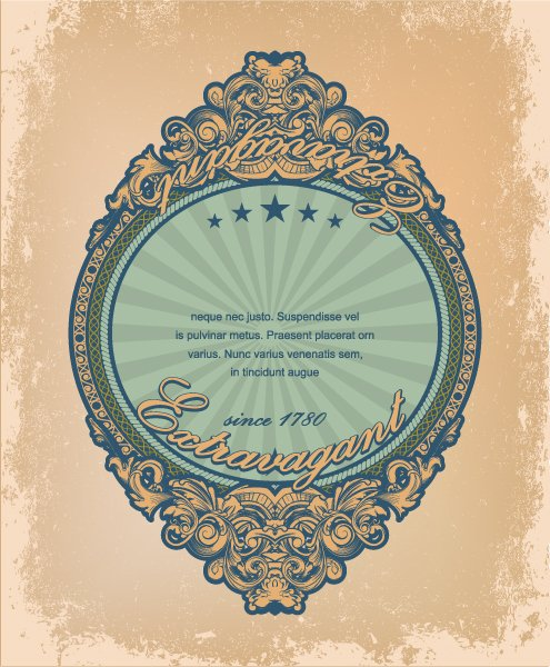 Striking Vintage Vector Art: Vintage Label With Grunge Background Vector Art Illustration 1