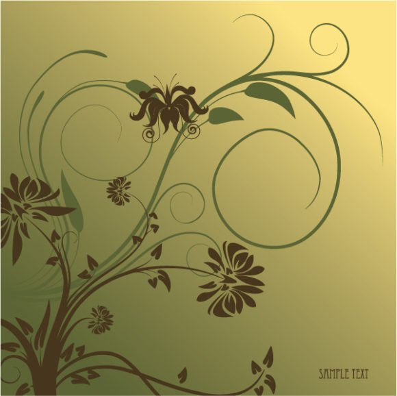Floral Vector Graphic: Abstract Floral Background Vector Graphic Illustration 1