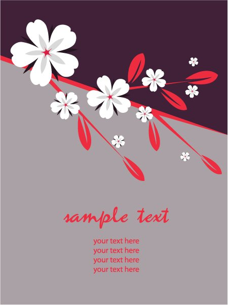 Illustration Eps Vector Vector Retro Floral Illustration 1