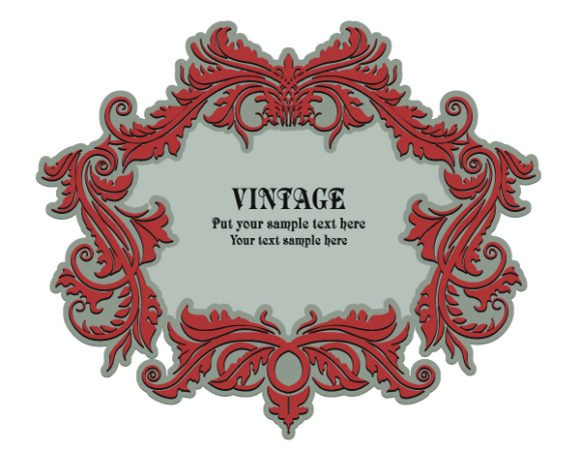 Unique Frame Vector Image: Vintage Floral Frame With Space For Text 1