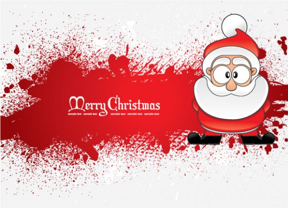 Greeting Eps Vector Santa With Grunge 1