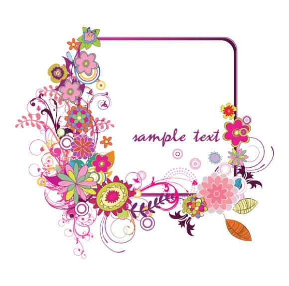 Illustration Vector Art Floral Frame 1