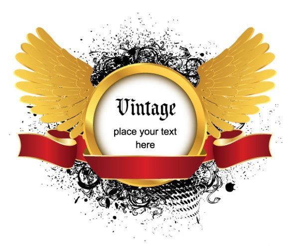 Creative Vector Artwork Vintage Emblem 1