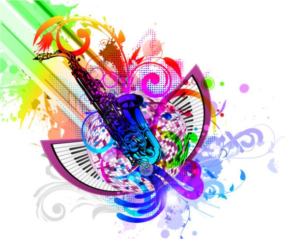 Amazing Illustration Vector Design: Colorful Concert Poster Vector Design Illustration 1