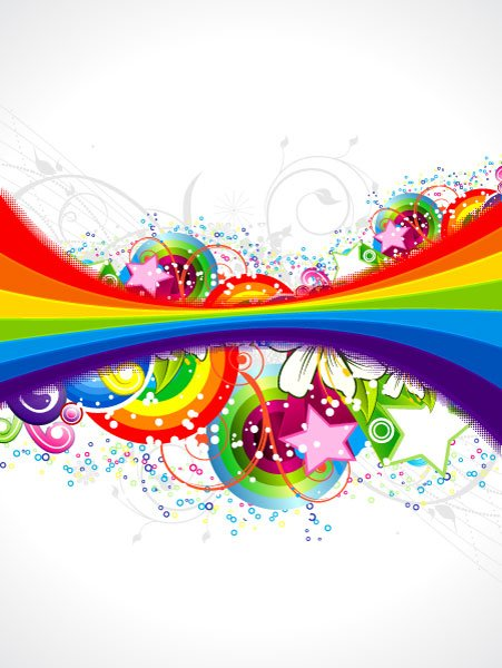 Rainbow, Background Vector Illustration Vector Abstract Colorful Background With Rainbow 1