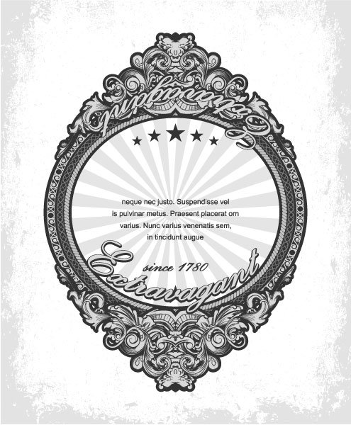 Striking Label Eps Vector: Eps Vector Vintage Label With Grunge Background 1