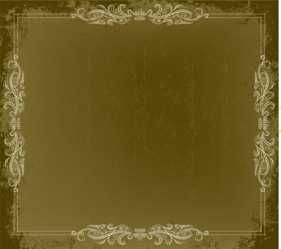 Frame Vector Graphic Grunge Vintage Frame Vector Illustration 1