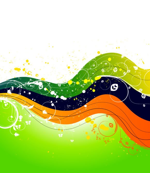 Wave, Background, Abstract Vector Graphic Vector Abstract Background With Wave 1