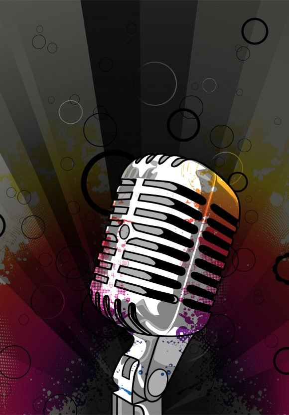 Creative, Poster Eps Vector Vector Grunge Music Poster With Microphone 1