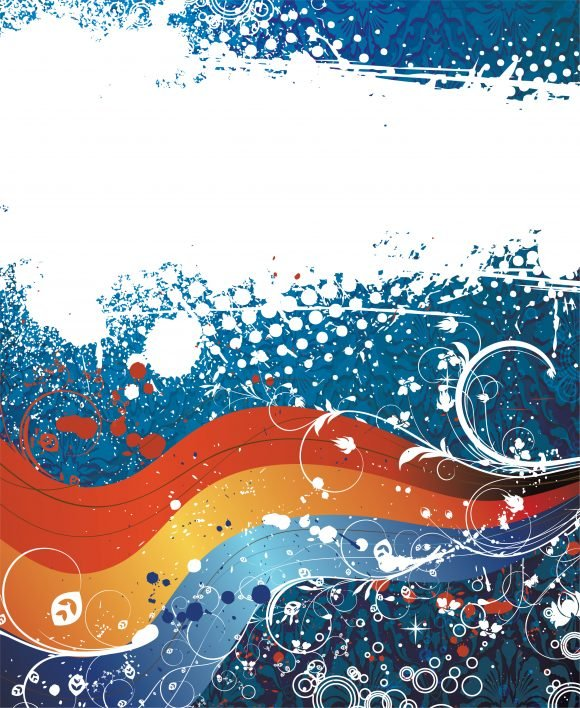 Abstract, Vector Vector Art Vector Abstract Background With Wave 1