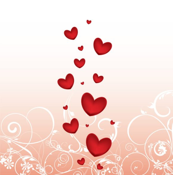 Trendy Vector Eps Vector: Eps Vector Valentine Background With Hearts 1