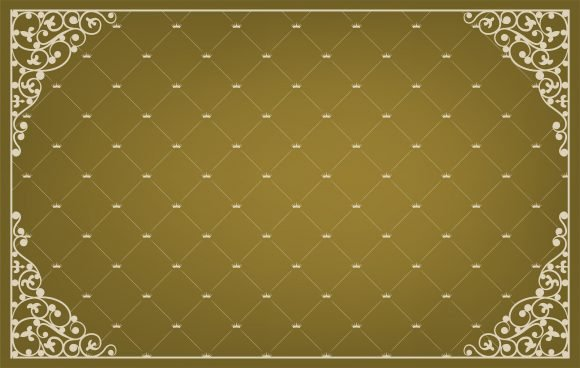 Vintage Vector Art Vector Vintage Background With Rought Iron Corners 1