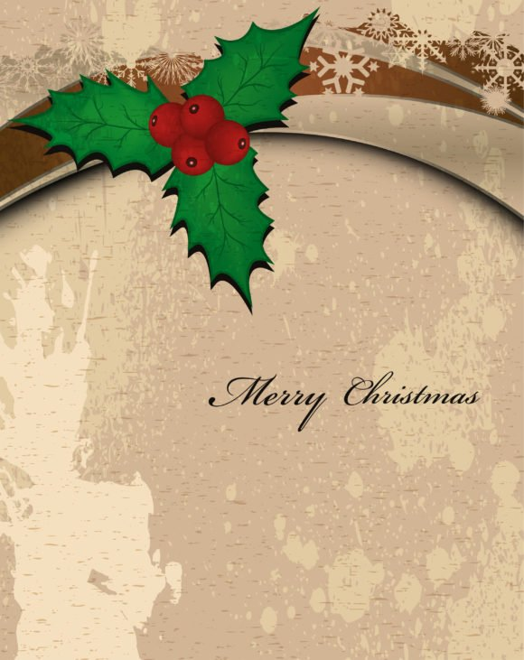 Card Eps Vector Vector Grunge Christmas Greeting Card 1