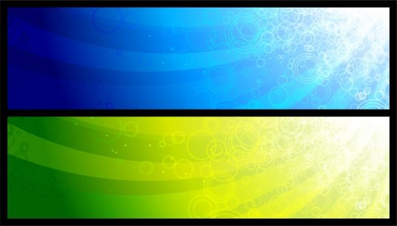Abstract, Set Vector Design Abstract Web Banners Set Vector Illustration 1