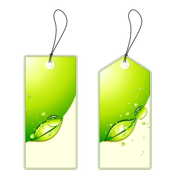 Striking Bubble Vector Image: Vector Image Green Shopping Tags Set 1