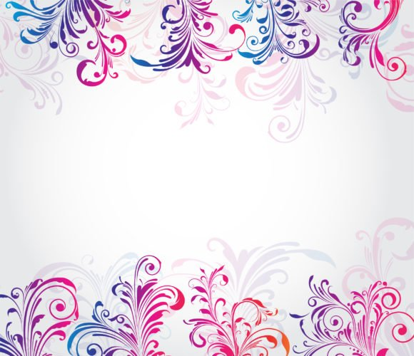 Colorful Vector Design: Colorful Floral Background Vector Design Illustration 1