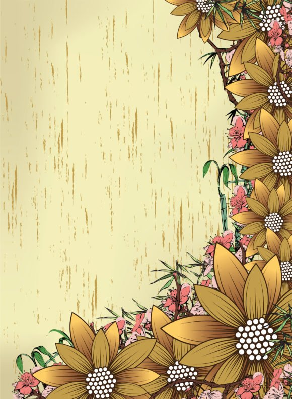 Vector Vector Vector Grunge Floral Background 1