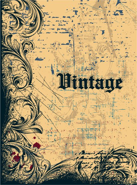 Striking Vector Eps Vector: Vintage Background Eps Vector Illustration 1