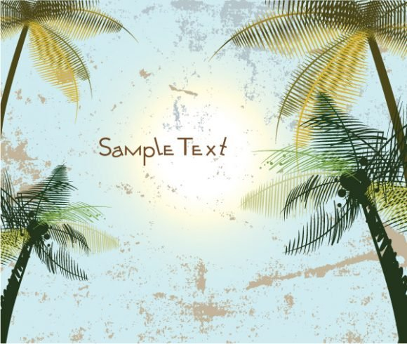 With, Background, Creative, Palm Vector Art Vector Summer Background With Palm Trees 1