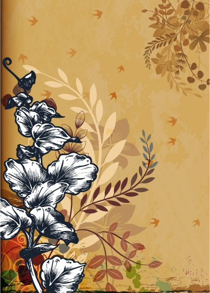 Illustration Vector Illustration: Grunge Floral Background Vector Illustration Illustration 1