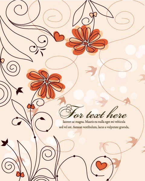 Lovely Background Vector Artwork: Vector Artwork Colorful Spring Background 1