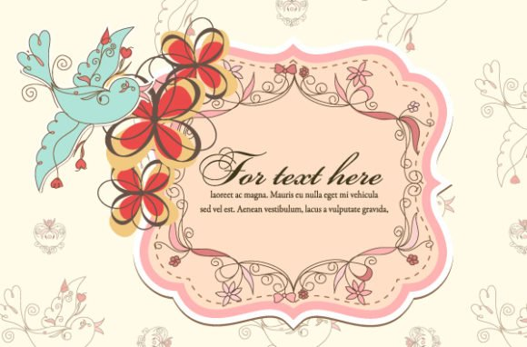 Awesome Vector Vector Background: Vector Background Colorful Spring Frame 1