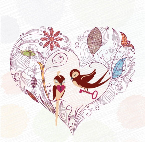 Birds Vector Graphic Love Birds Vector Illustration 1