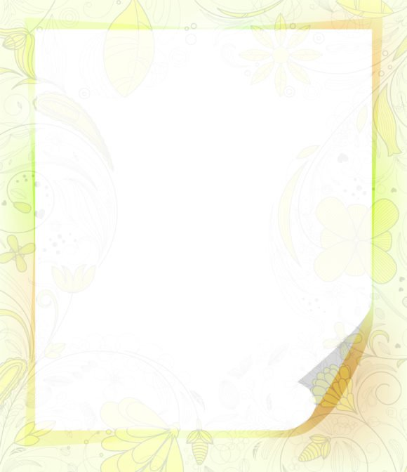 Surprising Paper Vector: Vector Paper Sheet With Floral 1