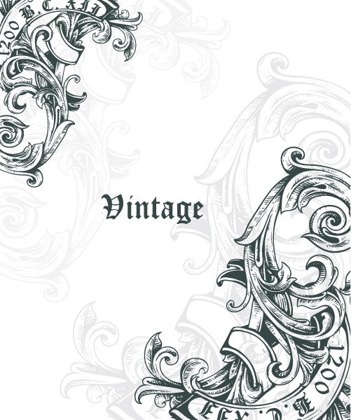 Exciting Vintage Vector Artwork: Vintage Corner Vector Artwork Illustation 1