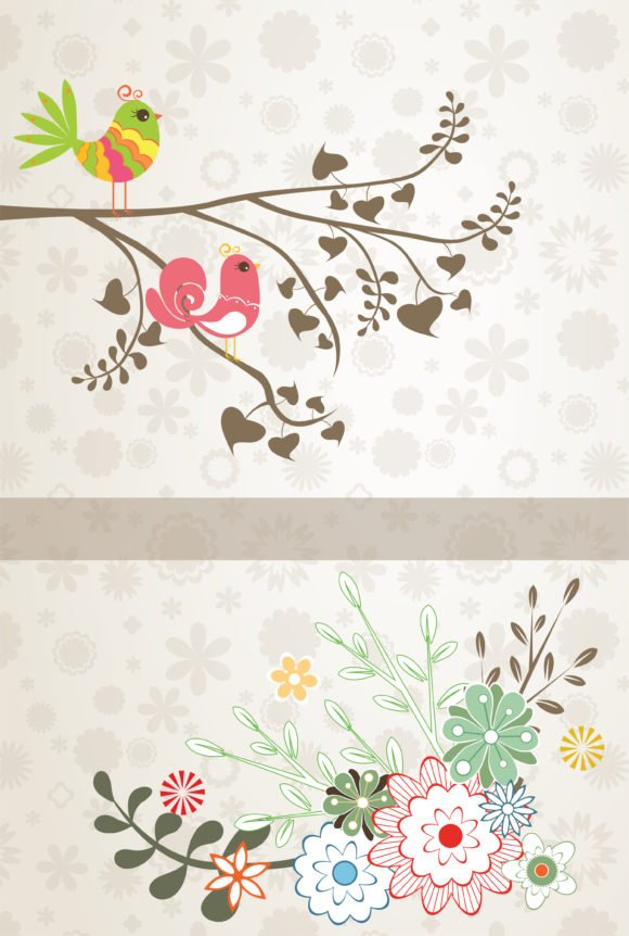 Brilliant Illustration Vector Design: Vector Design Spring Floral Background 1