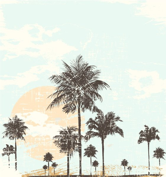 Striking Grunge Vector Image: Summer Grunge Background Vector Image Illustration 1