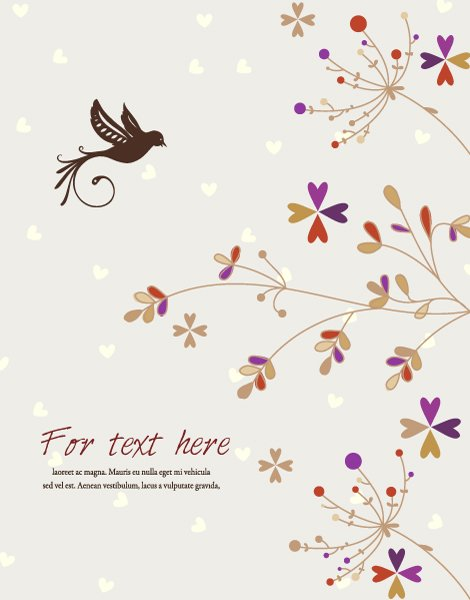 Illustration Vector Illustration: Bird With Floral Vector Illustration Illustration 1