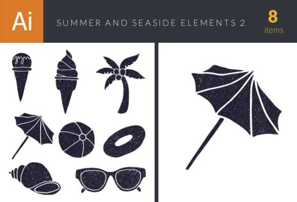 Summer and Seaside Vector Set 2 1