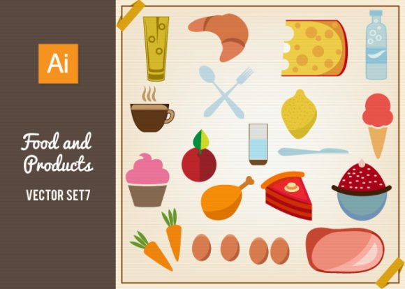 Food And Products Vector Set 7 1