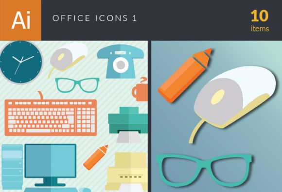 Office Icons Vector Set 1 1