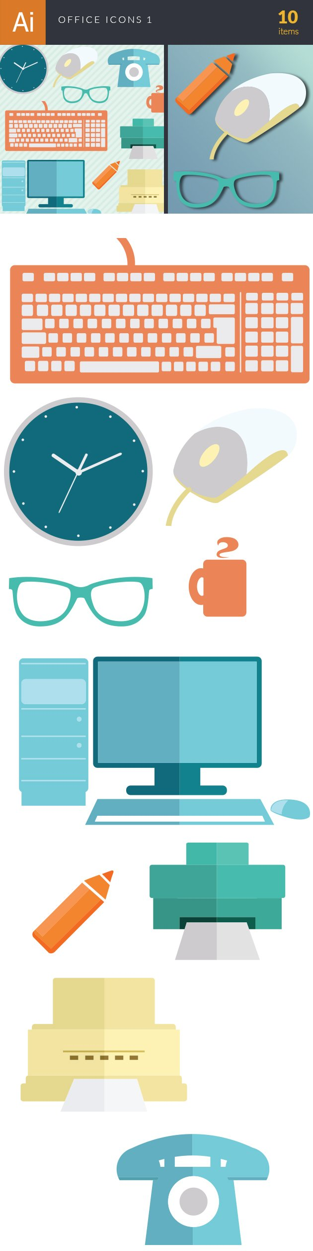 Office Icons Vector Set 1 2