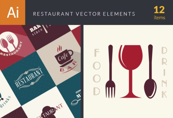 Restaurant Elements Vector 1