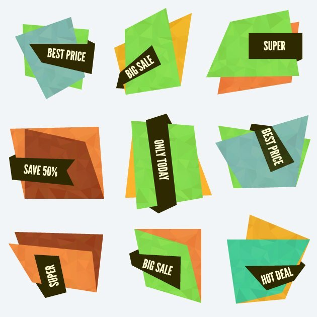 Special Offer Vector Labels And Banners Set 1 2