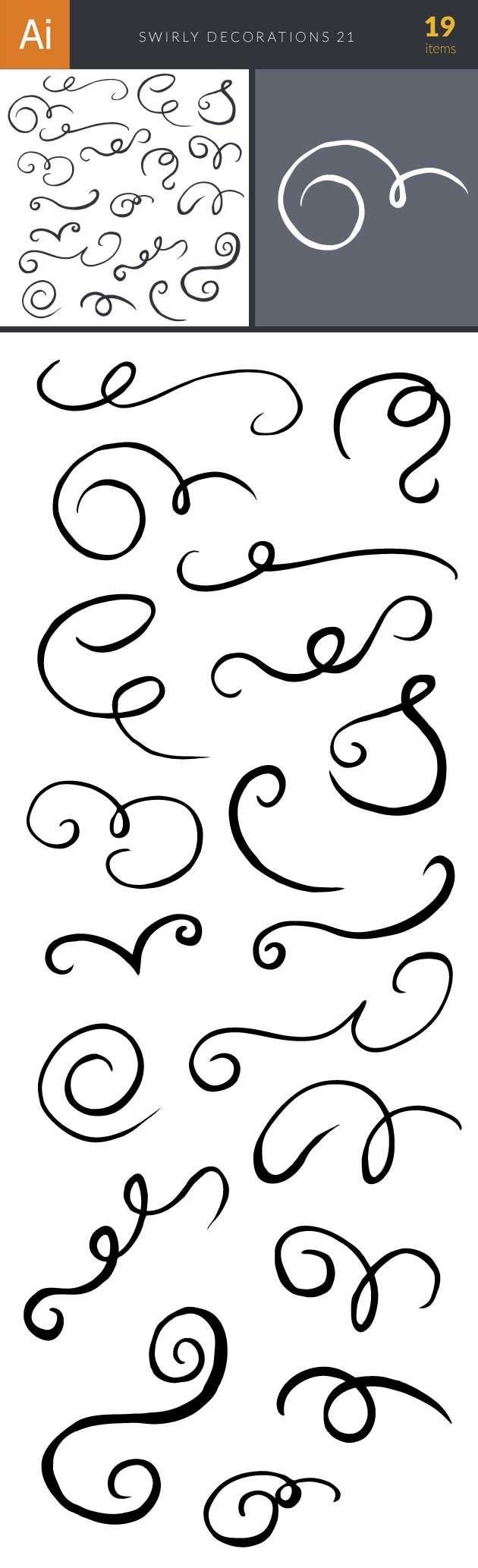 Swirly Decorations For Frames Set 21 2