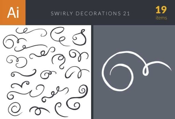 Swirly Decorations For Frames Set 21 1