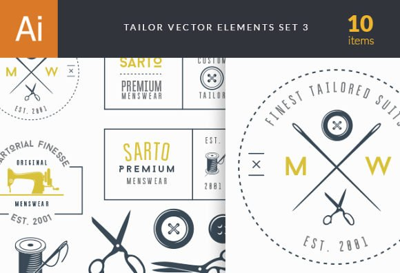 Tailor Labels Vector Set 3 1