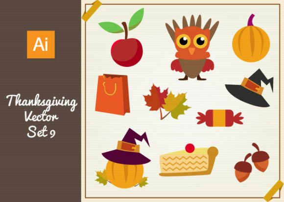 Thanksgiving Vector Set 9 1